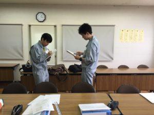 新入社員研修を行いました。(2018/4/2~4/17)