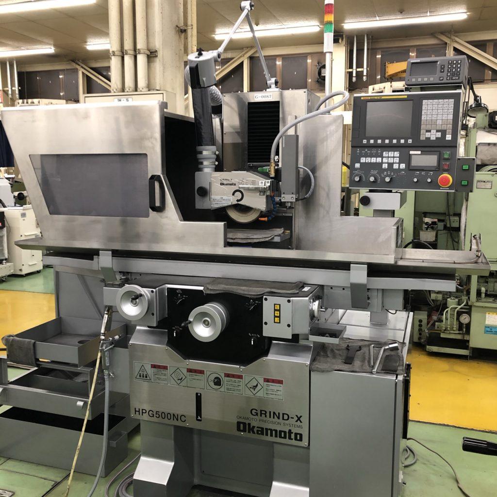 岡本工作機械製作所【HPG500NC】を導入しました